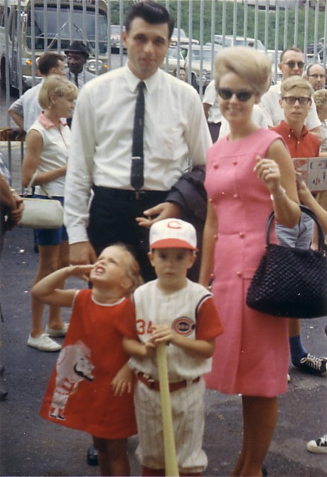 Dad, mom, my sister Michelle, and me in 1966!
